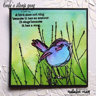 Watercolor Cards Tutorial by Natalie May | Lindy's Stamp Gang
