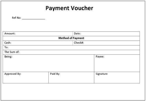 sample of payment voucher form