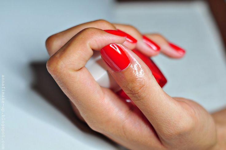 czerwone paznokcie, manicure, My Secret,