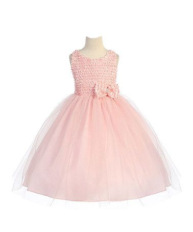 Another great find on #zulily! Blush Embellished Tulle Dress - Toddler & Girls #zulilyfinds
