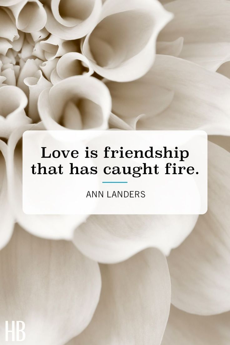 """Love is friendship that has caught fire."" See more Valentine's Day quotes at HouseBeautiful.com."