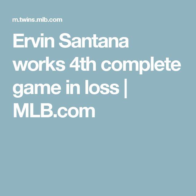 Ervin Santana works 4th complete game in loss | MLB.com