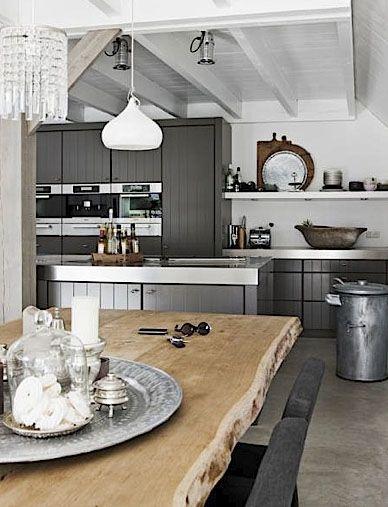 modern, rustic kitchen