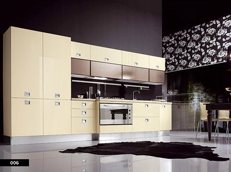 Contemporary-beige-kitchen-furniture