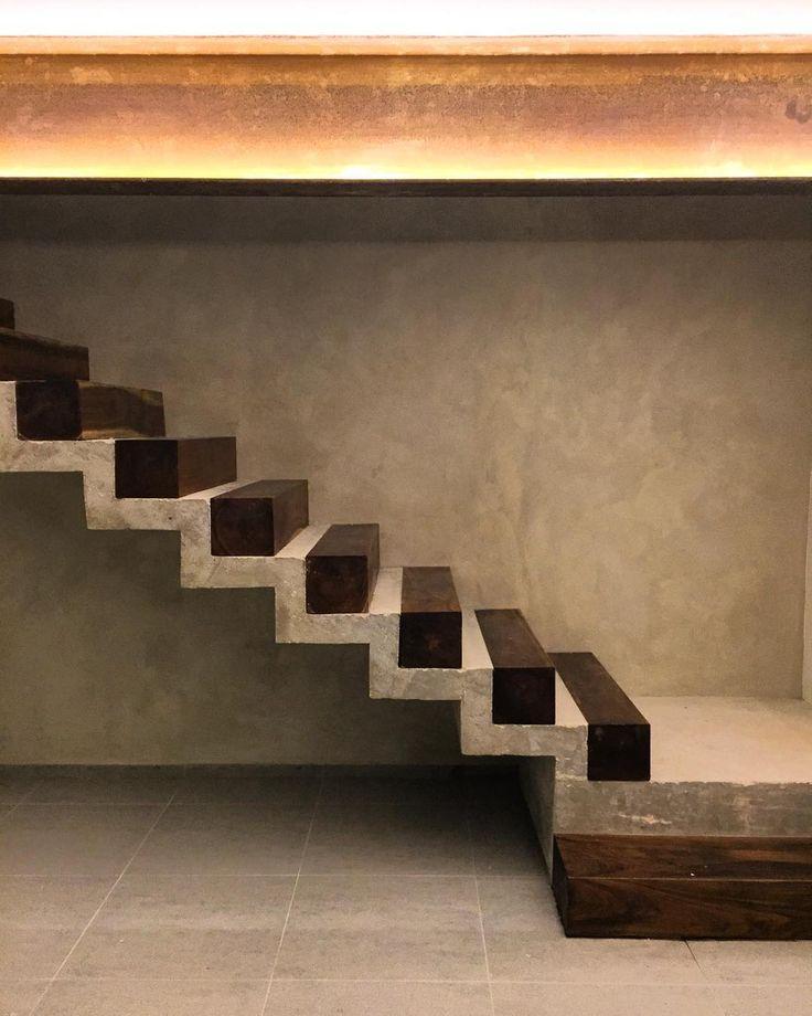 William S Woodworks Wood Stairs: Scaleras #estudioamarquitectos #mexico #beam #steel
