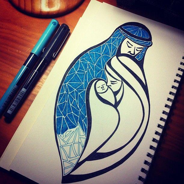 Sigo con mi dibujo navideño #navidad #dibujo #draw