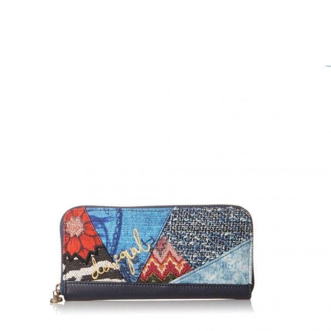 Portafoglio Desigual lungo con zip Electra 67Y53M3 - Scalia Group #desigual #borse #donna #handbags #color #winder #fallwinter #women #wallets #money #portafogli