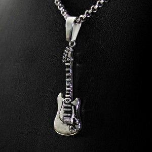 #Přívěsek z #chirurgické #oceli ve tvaru #kytary. Odkaz na na #eshop : http://www.ocelovesperky4u.cz/ocelove-privesky/privesek-kytara-guitar-02-016-chirurgicka-ocel-316l