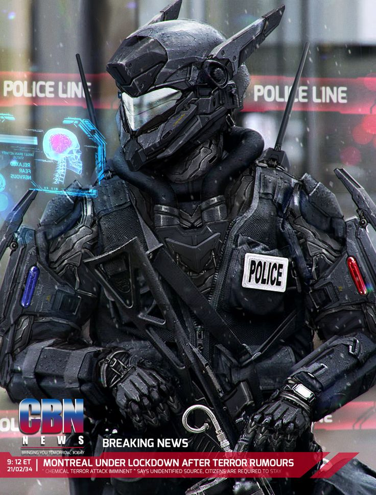ArtStation - Lockdown, Johnson Ting I wish we had this-like police in the nearest future! Robots would be even better!