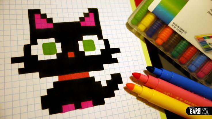 """Résultat de recherche d'images pour """"chat pixel art hello pixel art"""""""