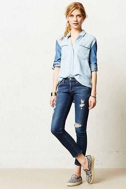 #Tonal #Chambray #Buttondown via #Anthropologie