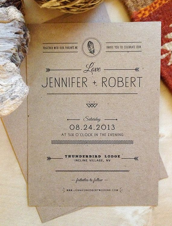 Hey, I found this really awesome Etsy listing at https://www.etsy.com/listing/154599118/rustic-kraft-paper-wedding-invitation