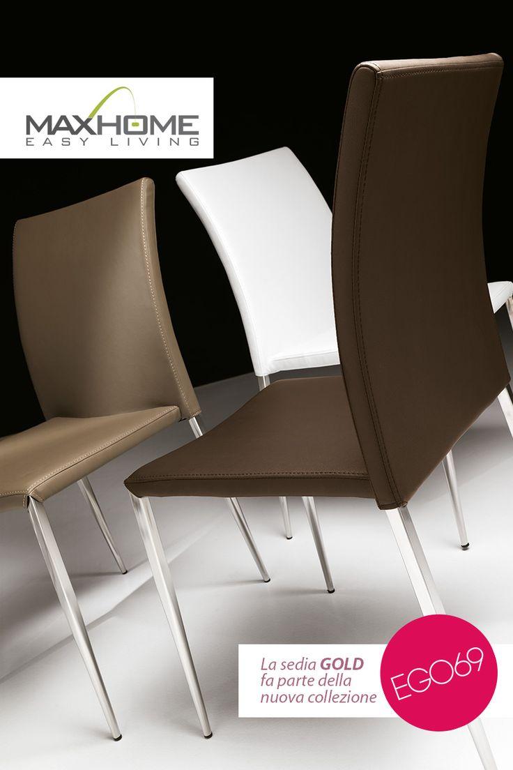 Perfetta unione ed amalgama fra metallo cromato e soffice imbottitura. GOLD è una sedia universale che si propone per ogni abbinamento d'arredo.
