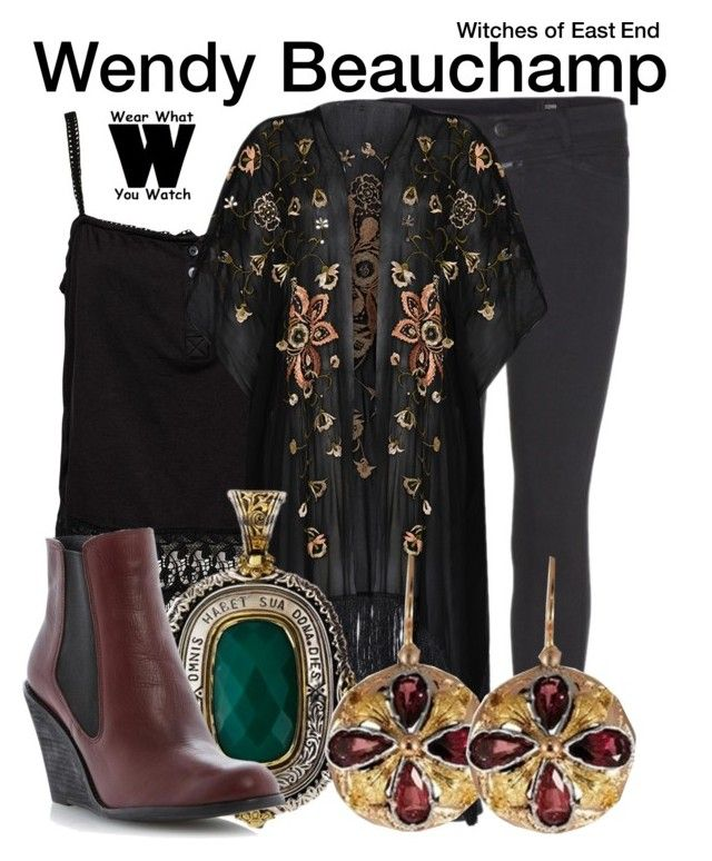 """Witches of East End"" by wearwhatyouwatch ❤ liked on Polyvore featuring Closed, River Island, Rabens Saloner, Konstantino, television and wearwhatyouwatch"