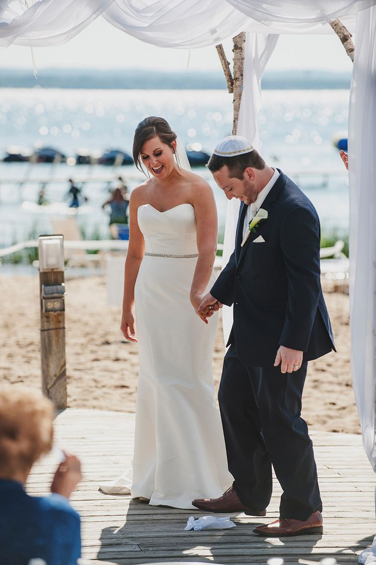 Under the Chupah @ Grand Traverse Resort Wedding Ceremony in Traverse City, MI // Photo Credit: Tide and Velvet — Lifestyle Wedding Photography