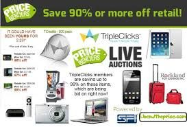 Penny auction bids as low as 29 cents each!  Learn more at: http://www.tripleclicks.com/15159574/