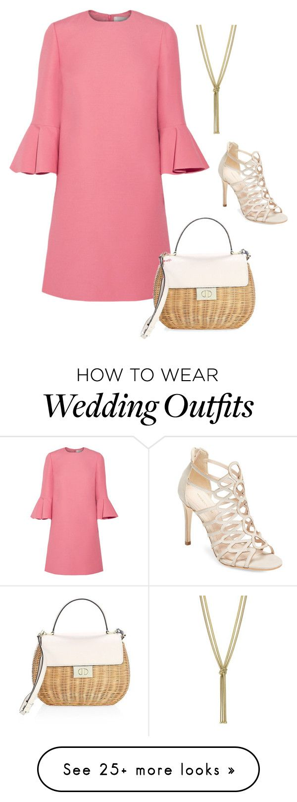 """Wedding Guest"" by gradingpapers on Polyvore featuring Valentino, Maiden Lane and Kate Spade"