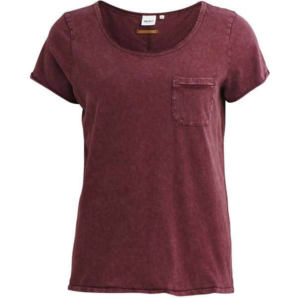 Object Collectors Item Objraw - T-Shirt ($24) ❤ liked on Polyvore featuring tops, t-shirts, shirts, tees, fired brick, scoop neck shirt, red cotton shirt, scoop neck top, cotton shirts and scoopneck tee