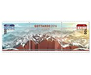 To celebrate the opening of the Gotthard Base Tunnel  Swiss Post is issuing a very special stamp with real rock dust from the Gotthard.