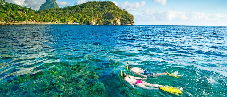 Snorkelers in Amed, Bali