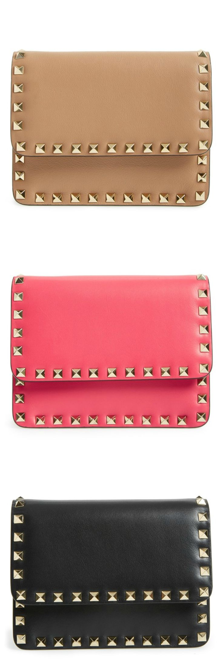 Obsessed with all of these Valentino Rockstud crossbody bags.
