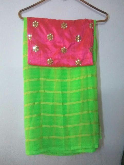 Pure georgette Saree With Designer Blouse | Buy Online georgette Sarees | Elegant Fashion Wear