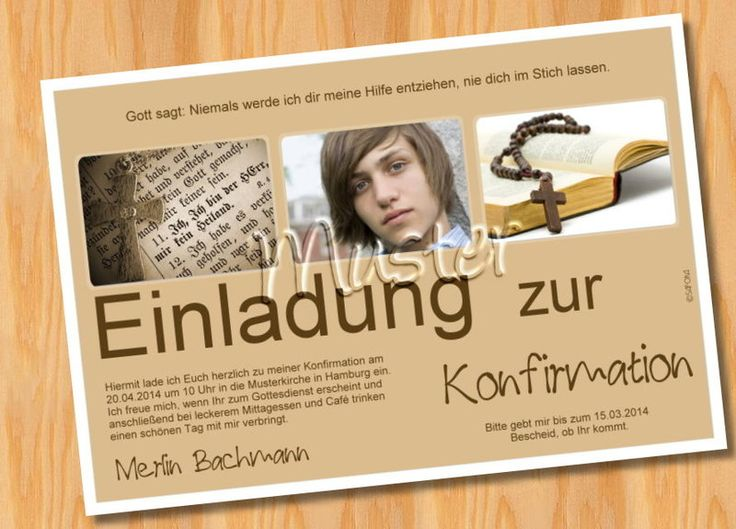 25+ Best Ideas About Einladungskarten Konfirmation On Pinterest, Einladung