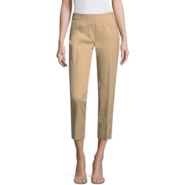 Piazza Sempione Audrey Capri Pants (€340) ❤ liked on Polyvore featuring pants, capris, cropped capri pants, capri pants, piazza sempione pants, piazza sempione and capri trousers