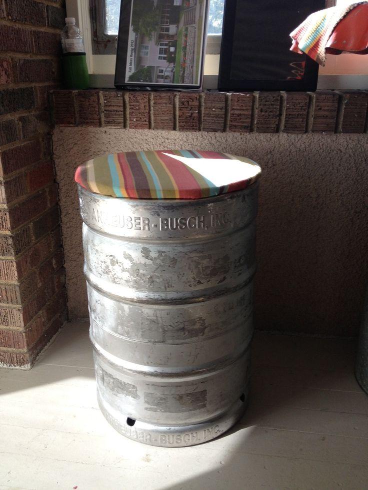 Beer Keg Bar Stool
