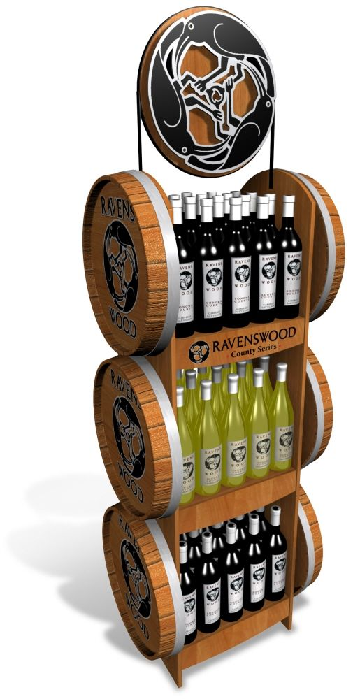 Ravenswood Wine Displays by Ricky Cordero at Coroflot.com