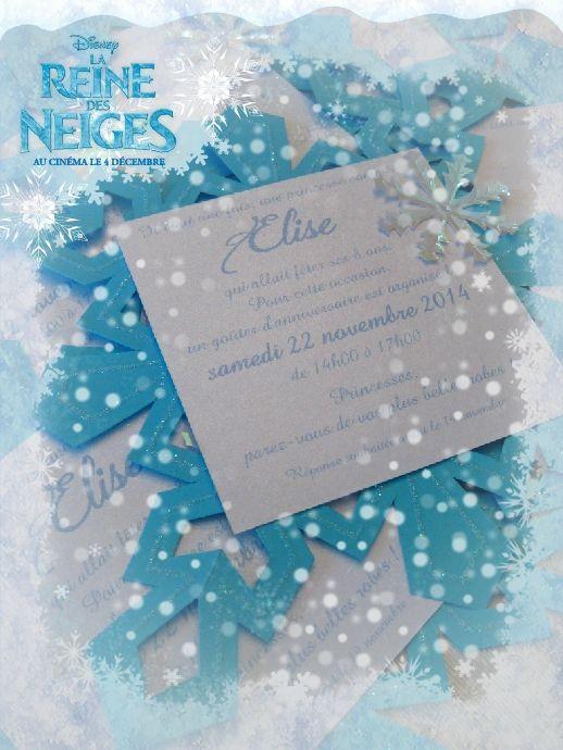 Anniversaire Reine des neiges : Les invitations flocon !!