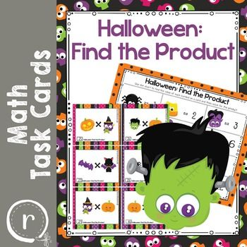 Fun task cards with Halloween characters. Each character represents a factor between 2 and 12. Students will decode the task card and then find the product for the multiplication problem. The PDF file has 48 task cards in color.No prep needed. Just print, laminate, and let them play!Includes an answer key and record sheet.Other items to check out:Multiplication StrategiesTask Card BundleHalloween Multiplication PracticeThank you for taking the time to check out my store.