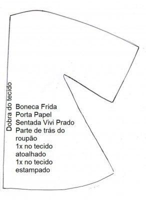 Boneca Frida porta rolo de papel 6