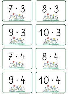 Lernstübchen: die Malreihen bis zur 6er Reihe