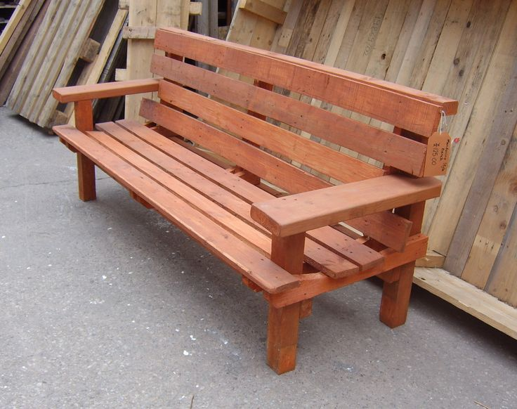 Wood Bench With Back ~ Best images about legno panca wooden bench on