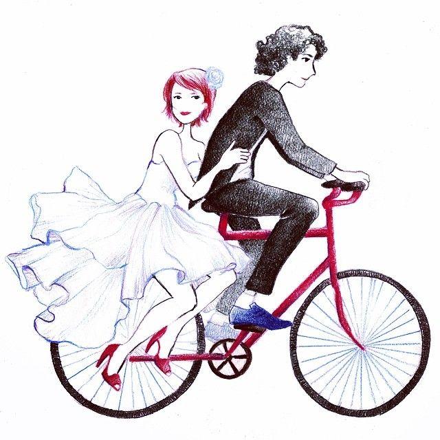 - Bouclage, 90% de fait ☀️ - Ride #illustration #wedding #commission
