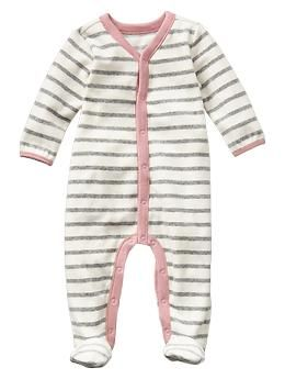 Stripe velour one-piece - bought this yesterday - can't wait to snuggle up with her this winter and stay nice and cozy