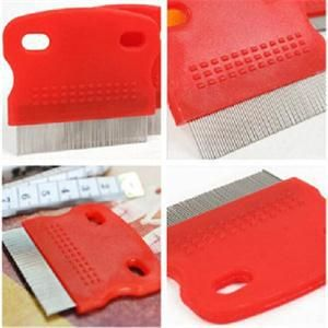 Hot Sale Pet Fine Toothed Comb Cat Dog Grooming Steel Small Flea Removal Cleaning Brush Comb Peine Dentada Para Mascotas ZT #03