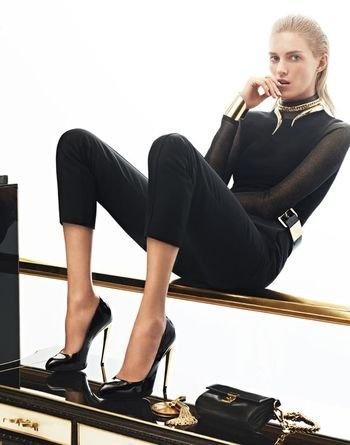 Giuseppe Zanotti Fall 2012 Fashion Ad Campaign: Anjarubik, Anja Rubik, Zanotti Fall, Giuseppe Zanotti, Ads Campaigns, Fall 2012, Black Gold, Karim Sad, 2012 Campaigns