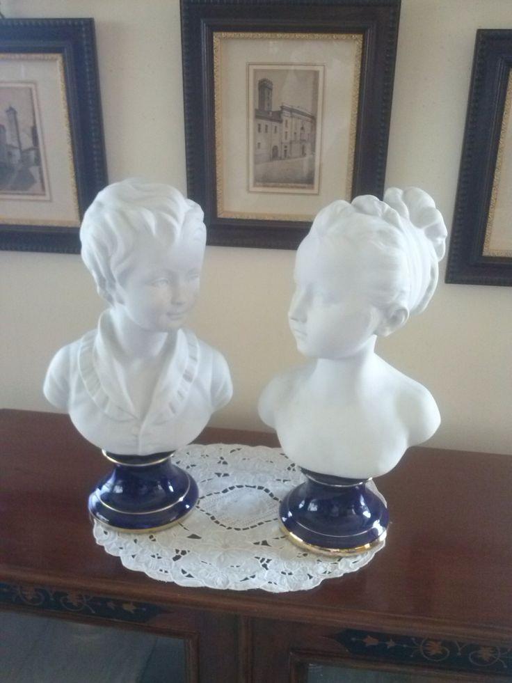 Elegante coppia di statue in porcellana Limoges raffigurante una coppia di giovani. Prezzo speciale!!!!! di LaTribuDellArte su Etsy