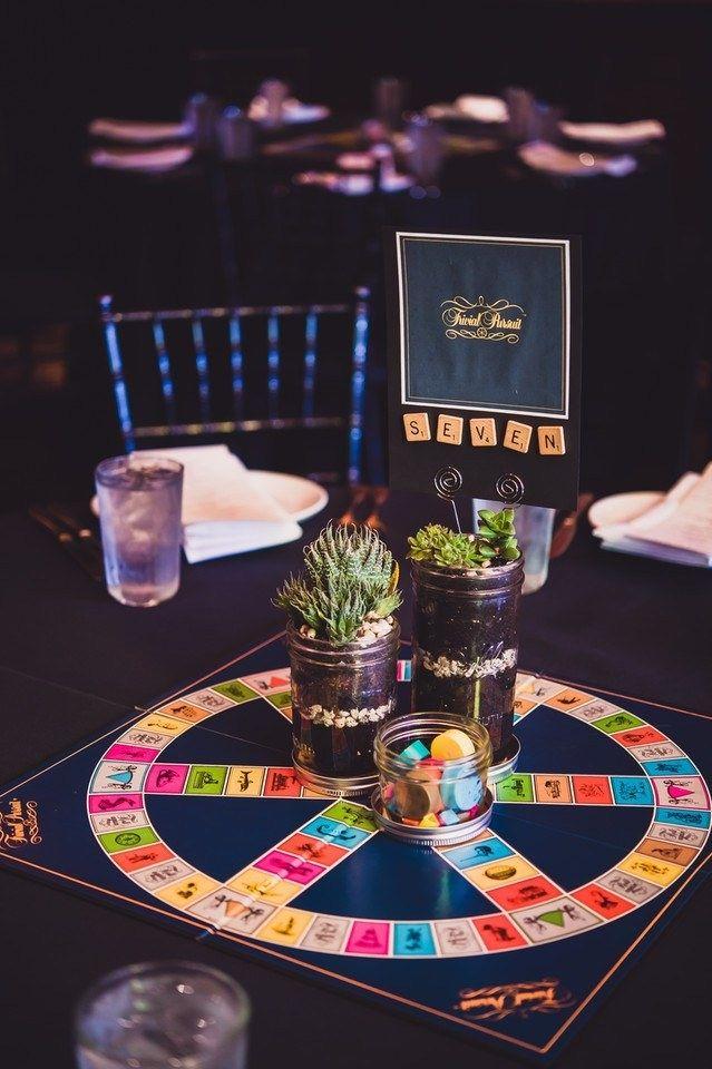 27 Nerdtastic Wedding Ideas You Ll Majorly Geek Out Over Board Game Wedding Wedding Table Games Wedding Games