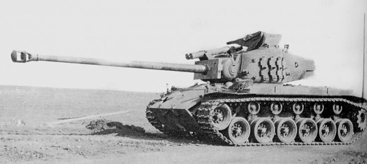 T26E1 heavy tank 'Super Pershing' with upgraded L73 90mm T15 gun, Europe, 1945. The 90-mm M3 gun of the Super Pershing was similar to the German 88 mm KwK 36 used on the Tiger I. In an effort to match the firepower of the Tiger II's more powerful 88 mm KwK43, the T15E1 90 mm gun was developed and mounted in a T26E1 in January 1945. The end of the war five months later interrupted further development.