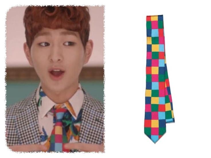 Onew 'DREAM GIRL' MV - uniform experiment [ color chart narrow necktie ]  information souce : key_910923
