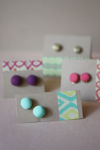 DIY Clay Stud Earrings. So simple, but so cute!!