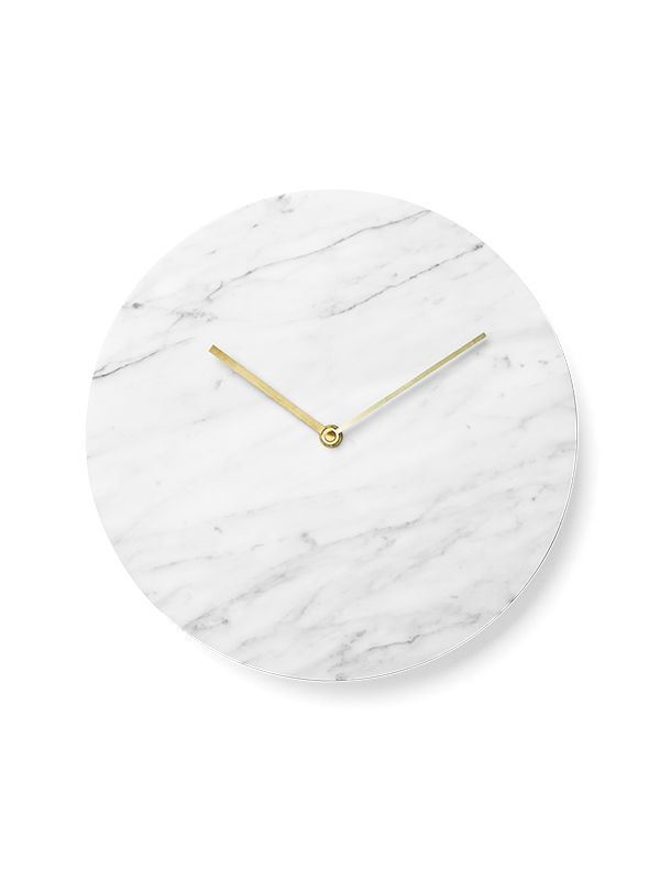 great simple designed wall clock in marble @menu.as (also comes in black & green)