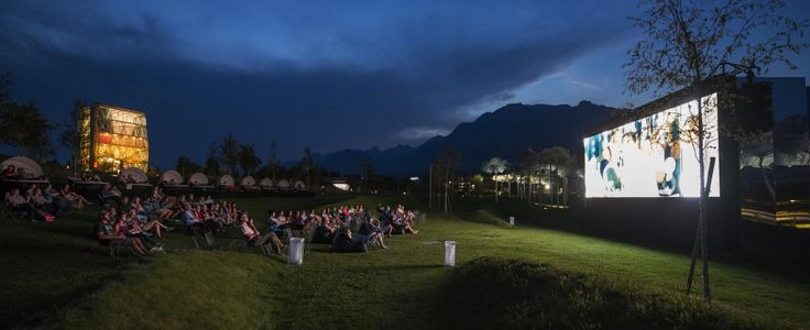 Open Air Cinema at Swarovski Crystal Worlds in Wattens - amazing!