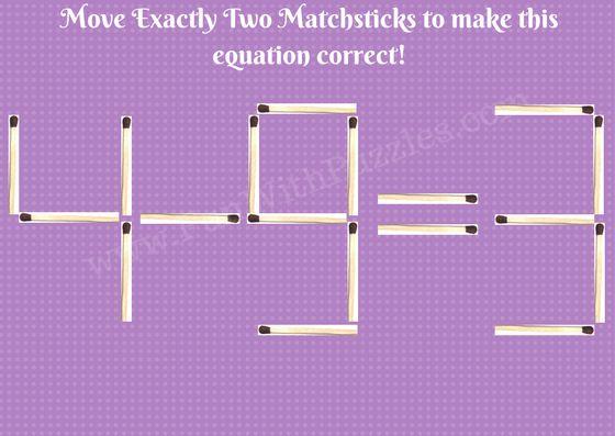 Matchstick Math Brain Teasers Picture-5
