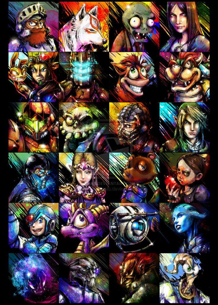 Videogame MashUP by ~VVernacatola on deviantART