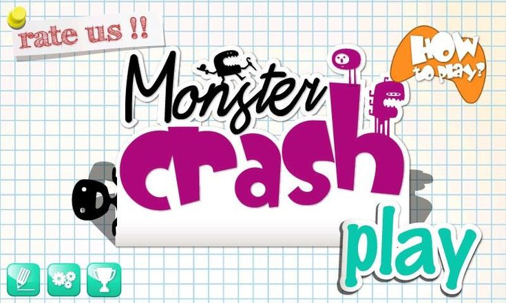 Monster Crash - crosses puzzle game with destruction
