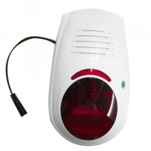 WS Wolf Secure Wireless outdoor siren with flashing light